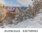 grand canyon south rim winter... | Shutterstock . vector #636768463