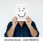 illustration of smiley face on... | Shutterstock . vector #636780853