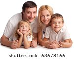 happiness family with two... | Shutterstock . vector #63678166