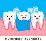 sensitive teeth. cute cartoon...   Shutterstock .eps vector #636788653