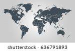 world map vector.