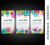 Vector Set Of Three Colorful...