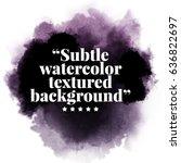 black watercolor background | Shutterstock .eps vector #636822697