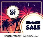 summer sale text quote with... | Shutterstock .eps vector #636829867