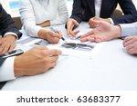 image of business people hands...   Shutterstock . vector #63683377