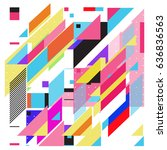 abstract colorful geometric... | Shutterstock .eps vector #636836563