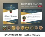 certificate template with... | Shutterstock .eps vector #636870127