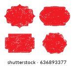 vintage labels.vector grunge... | Shutterstock .eps vector #636893377
