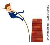 vector stock of a businessman... | Shutterstock .eps vector #636893467