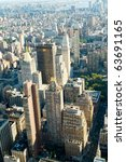 new york city panorama with... | Shutterstock . vector #63691165