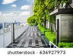 amazing rooftop garden. outside ... | Shutterstock . vector #636927973