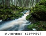 mountain stream  | Shutterstock . vector #636944917