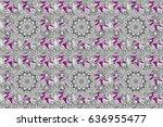 ornate raster decoration.... | Shutterstock . vector #636955477