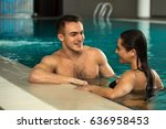 young loving couple relaxing at ... | Shutterstock . vector #636958453