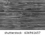 seamless dark grey wooden old...   Shutterstock . vector #636961657