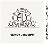 modern emblem  badge  label... | Shutterstock .eps vector #636962023