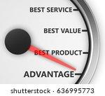 advantage better product price... | Shutterstock . vector #636995773