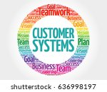 customer systems circle word... | Shutterstock . vector #636998197