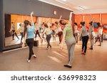 fitness  dancing  sport ... | Shutterstock . vector #636998323