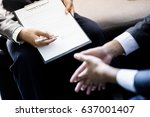 business man signing a contract | Shutterstock . vector #637001407
