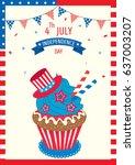cupcake design for happy...   Shutterstock .eps vector #637003207
