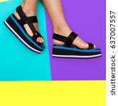 Platform Summer Trend. Stylish...