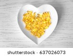 Heart Shape Plate With Fish Oi...