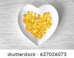 Heart Shape Plate With Fish Oi...
