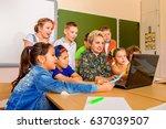 favorite teacher. portrait of...   Shutterstock . vector #637039507