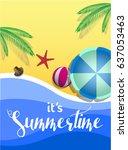 summertime banner design on... | Shutterstock .eps vector #637053463