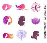 vector set of logo design for... | Shutterstock .eps vector #637068157