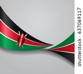 kenyan flag wavy abstract... | Shutterstock .eps vector #637069117