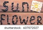 sunflower word from sunflower...   Shutterstock . vector #637072027