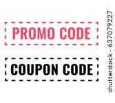 promo code  coupon code. flat... | Shutterstock .eps vector #637079227