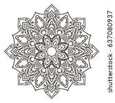 mandala. ethnic decorative... | Shutterstock .eps vector #637080937
