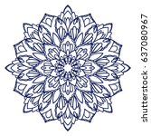 mandala. ethnic decorative... | Shutterstock .eps vector #637080967