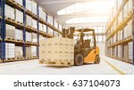 pallet transporter in warehouse
