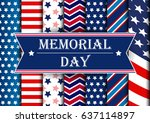 memorial day. | Shutterstock .eps vector #637114897