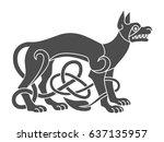 ancient celtic mythological... | Shutterstock .eps vector #637135957