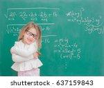 little kid girl teaching in