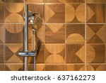 modern shower interior of... | Shutterstock . vector #637162273