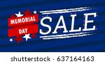 usa memorial day banner. sale... | Shutterstock .eps vector #637164163