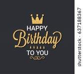 birthday card | Shutterstock .eps vector #637188367