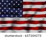 american flag | Shutterstock .eps vector #637204273
