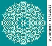 arabic geometric pattern for... | Shutterstock .eps vector #637210393