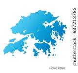 map of hong kong | Shutterstock .eps vector #637213783