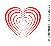 heart to heart   stock vector | Shutterstock .eps vector #637216723