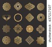 luxury icon set. vector logo...   Shutterstock .eps vector #637217107