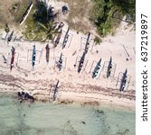 Aerial View Of Beach With...