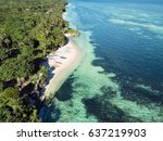 Aerial View Of Coast  Turquois...